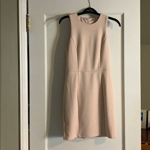 Pleated Soft Pink Dress